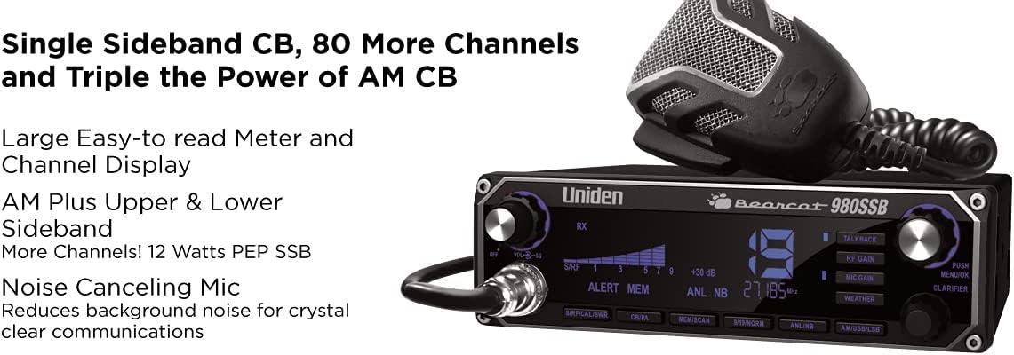 Uniden BEARCAT 980 40- Channel- Best SSB CB Radio with Sideband NOAA WeatherBand