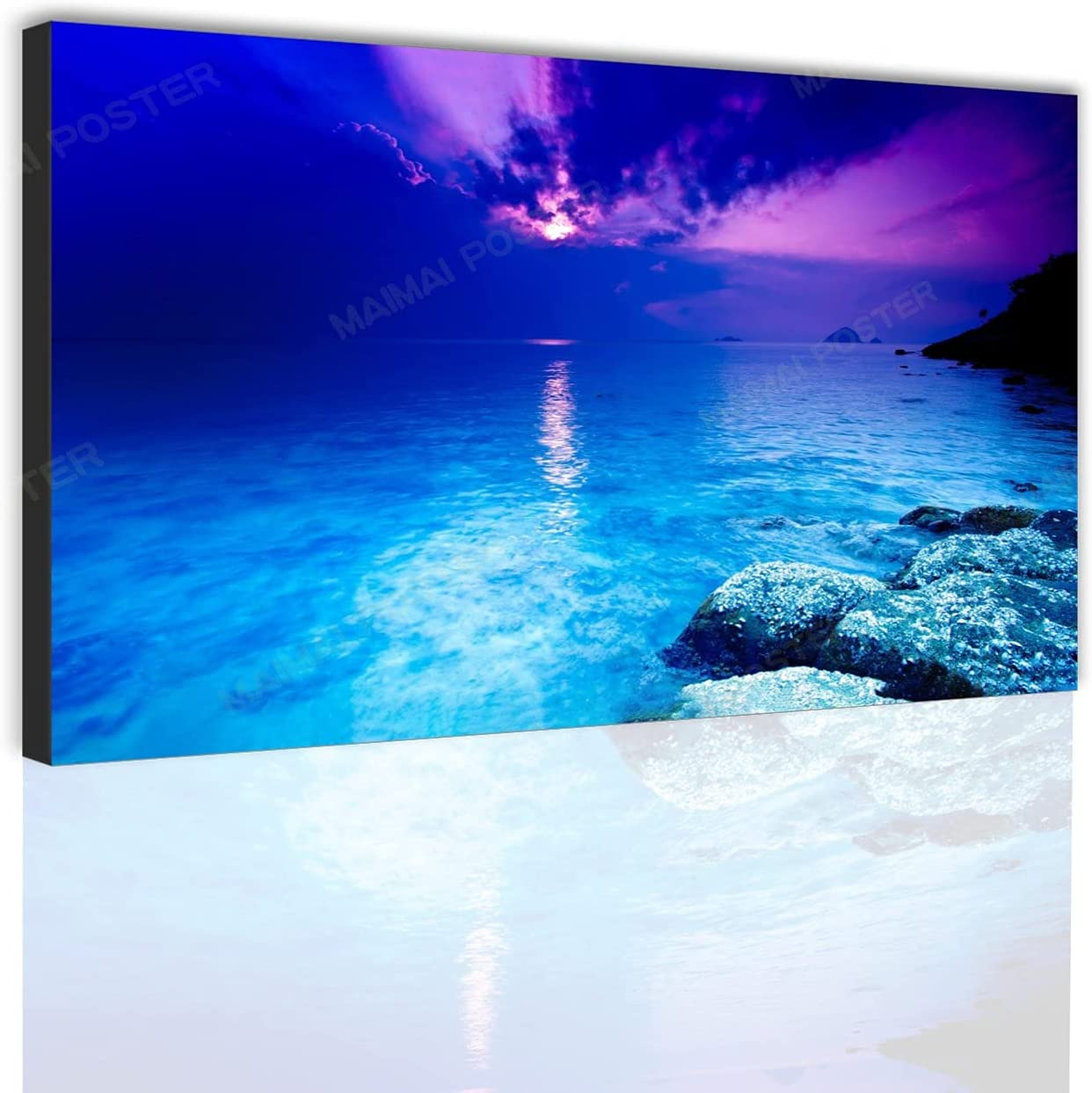 supreme Natural seascape sunset canvas art poster beach wear sun Online limited product