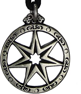 Pewter Seven Pointed Fairy Star Pendant