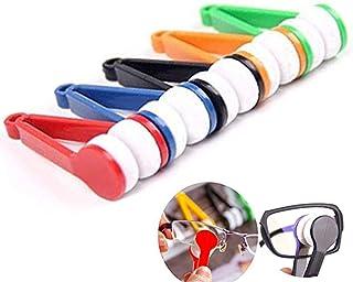 5 pcs Mini Portable multifonction Lunettes Nettoyage Rub, portable, poignée Lunettes en forme de lunettes de soleil Lunett...