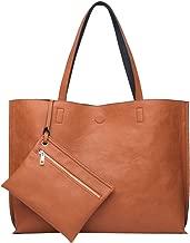 ilishop Stylish Tote Bag Reversible Shoulder Handbag with Coin Purse for Women