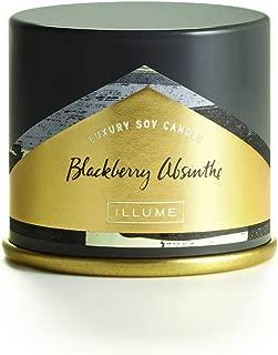 Illume BlackBerry Absinthe Demi Vanity Tin, 3 oz Candle, Dark Purple