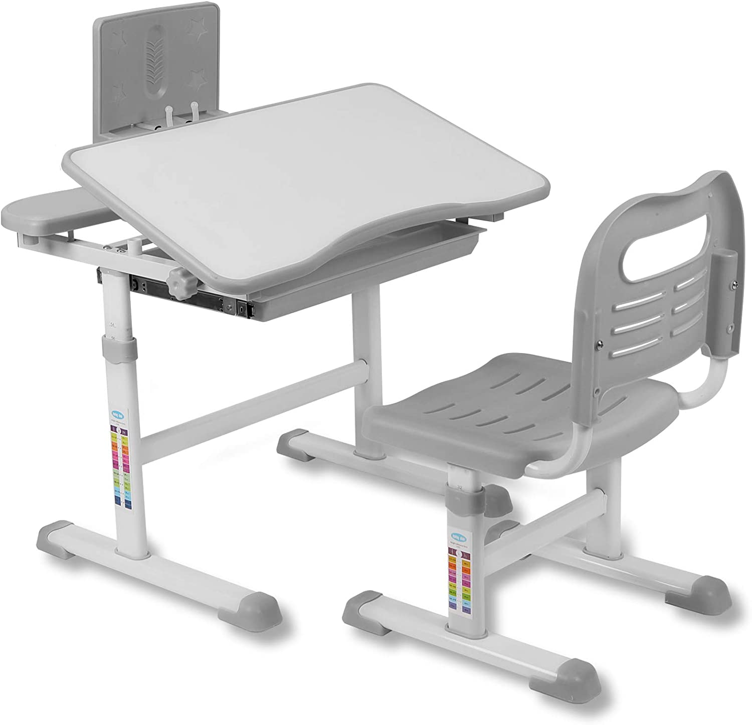 Functional Kids Desk and Chair Set Adjustable At the price of surprise Store School Chil Height