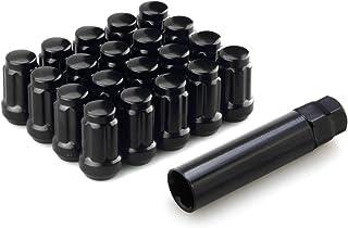 DCVAMOUS Radmuttern mit 6 Spline Acorn 12 x 1,25 Gewinde, 3,8 cm hoch, Kegelsitz mit Schlüssel – kompatibel mit Infiniti Nissan Subaru Suzuki Aftermarket Rädern, 20 Stück