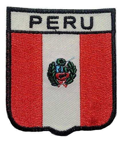 b2see Bügel Flagge Aufnäher Patch Applikation Bestickt Peru Lima
