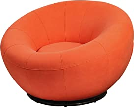 JTKDL Lazy Sofa,Single Sofa,Small Apartment Living Room Bedroom Modern Minimalist Creative Fabric Lazy Sofa (Color : Orange)
