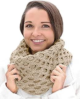 Merino Wool Honeycomb Irish Snood Scarf