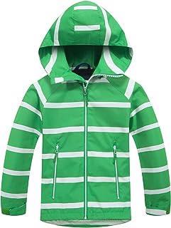 Welity Kids Warm Fleece Lined Full Zip Waterproof Hoodie Jacket