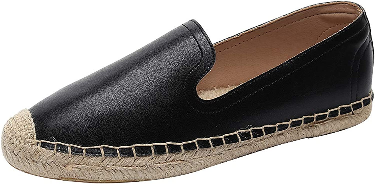 Ggudd Women's Espadrille shoes Original Loafers Flats