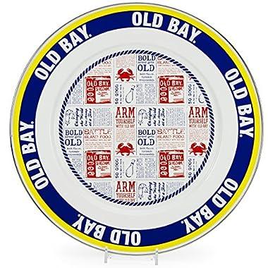 Enamelware, Old Bay Seasoning, 4 quart Serving Basin (Bowl), 13½ inch diameter x 4 inch deep