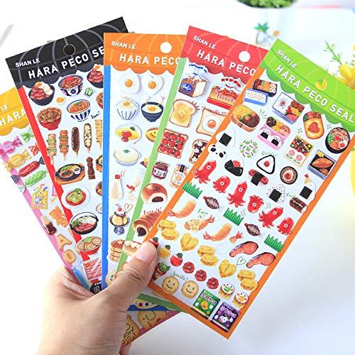 Bunte Kawaii Candy Sushi EIS Aufkleber Tagebuch Planer Journal Hinweis Tagebuch Papier Scrapbooking Alben Fototag DIYSL-ABFRandom 1St
