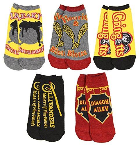 Harry Potter Winkelgasse Frauen No-Show-Socken 5 Paar Pack