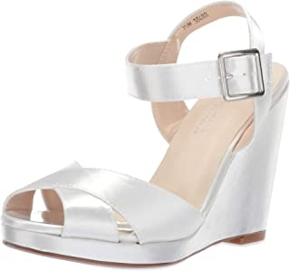 Touch Ups Womens Stormy Satin Peep Toe Casual Platform Sandals