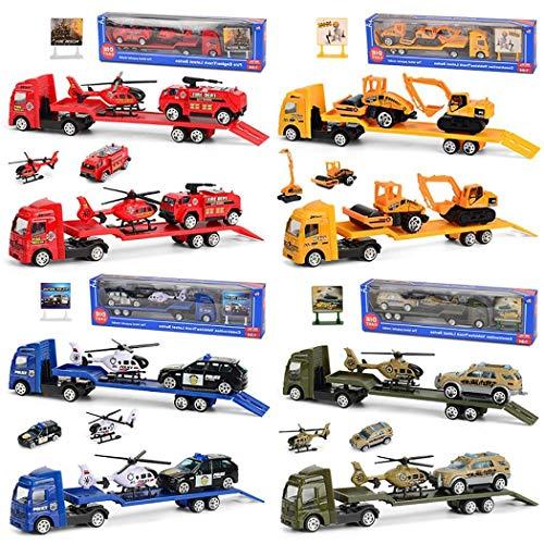 Meihet 4-teiliges Set Kinder Legierungstechnik Auto Spielzeug Mini Simulation Auto Modell Spielzeug Spielbahnen