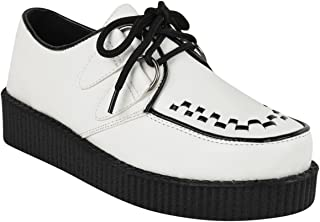 Fashion Thirsty Womens Creeper Goth Punk Platform Lace Up Shoes Flat