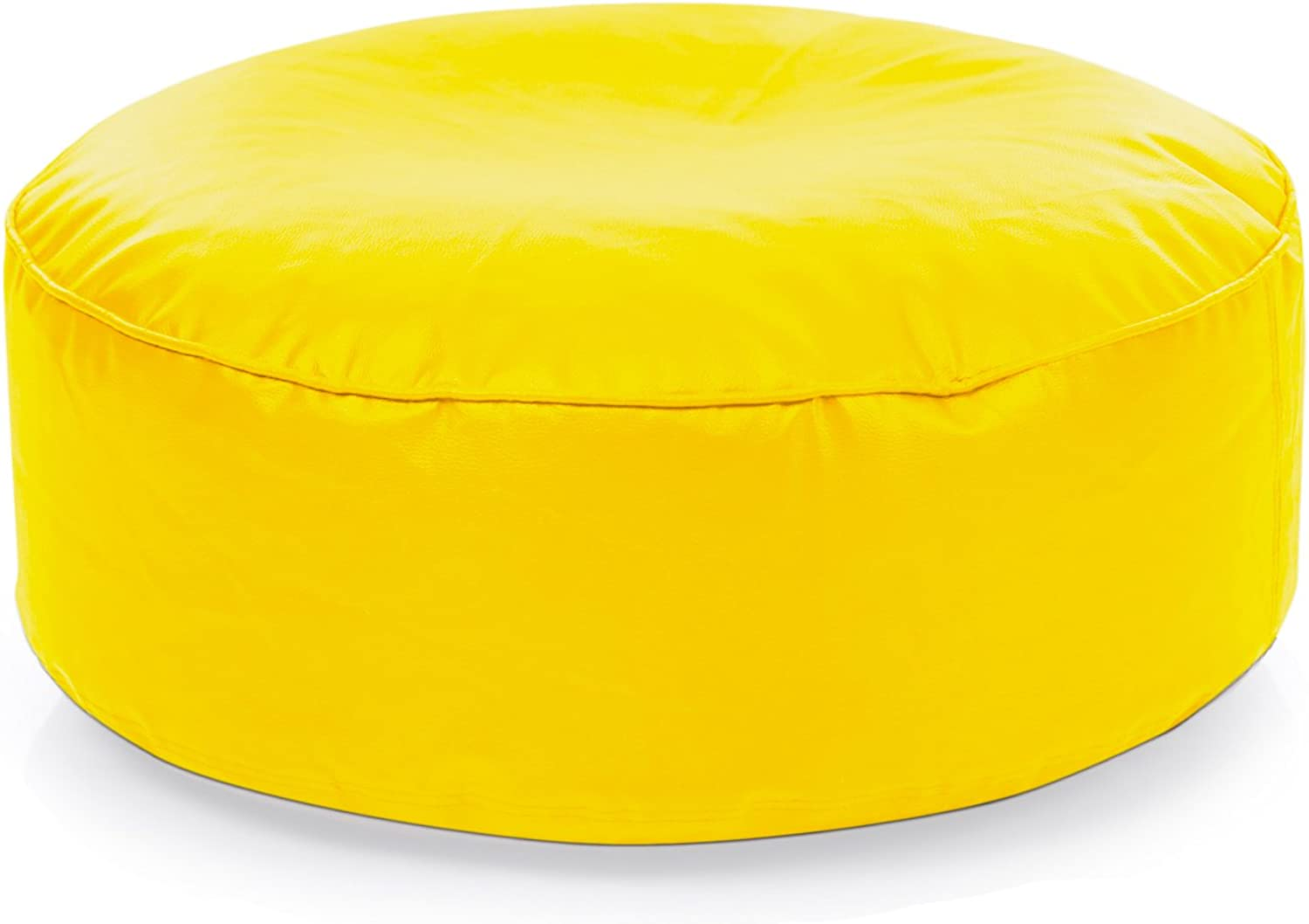 Style Homez Classic Round Floor Cushion L size Yellow color Cover Only