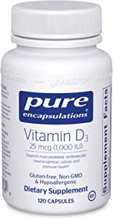 Pure Encapsulations Vitamin D3 25 mcg (1,000 IU) | Supplement to Support Bone, Joint, Breast, Prostate, Heart, Colon and I...