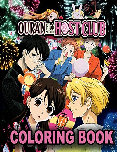 Ouran High School Host Club Coloring Book: A Fabulous Coloring For Adults To Relax And Kick Back. Many Designs Of OHSHC To Color