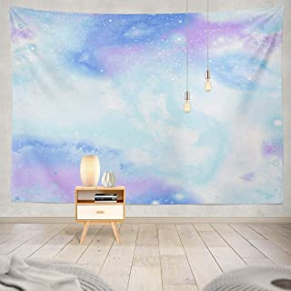 ONELZ Psychedelic Tapestry, Tapestry Wall Hanging Repeat Space Mermaid Blue Cosmic Galaxy Decor Collection Bedroom Living Room 60 L X 80 W Polyester