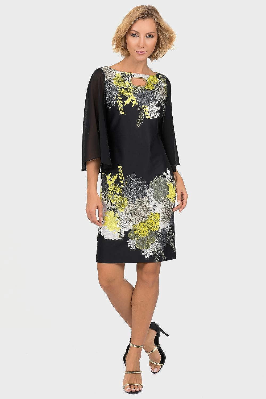 Joseph Ribkoff Black Multi Dress Style 191706