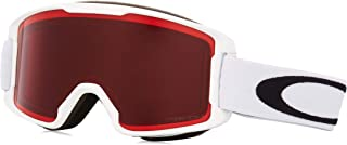 Oakley Line Miner 青年滑雪护目镜,哑光白色,S 码,Prizm 玫瑰镜片