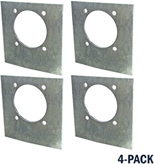 4 Pack Backing Plate for Steel Heavy Duty Rotating Tie-Down Anchors - Flush Mount With Recessed Pan Fitting - Tiedown Breaking Load of 6,000 Pounds - For Flatbeds, Trucks, Trailers, Heavy Cargo