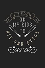 I Teach My Kids To Hit and Steal: 120 Blank Lined Page Softcover Notes Journal | College Ruled Composition Notebook | 6x9 Blank Line | Baseball Player ... Coach Gifts | Gifts For Baseball Lovers