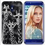 Yrlehoo Für Doogee BL5000, Premium softe Silikon Schutzhülle für Doogee BL5000 Tasche Hülle Cover Hülle Etui Schutz Protect, Giraffe