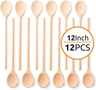 Craft Spoon with Engraved Design Swan Small Wood Spoon Gift for Kitchen Eating Cooking Baking