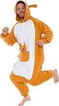 Plush Kangaroo One Piece Animal Costume - Silver Lilly Unisex Adult Cosplay Pajamas