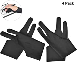 OTraki 4 Pack Artist Gloves for Drawing Tablet Free Size Artist's Drawing Glove with..
