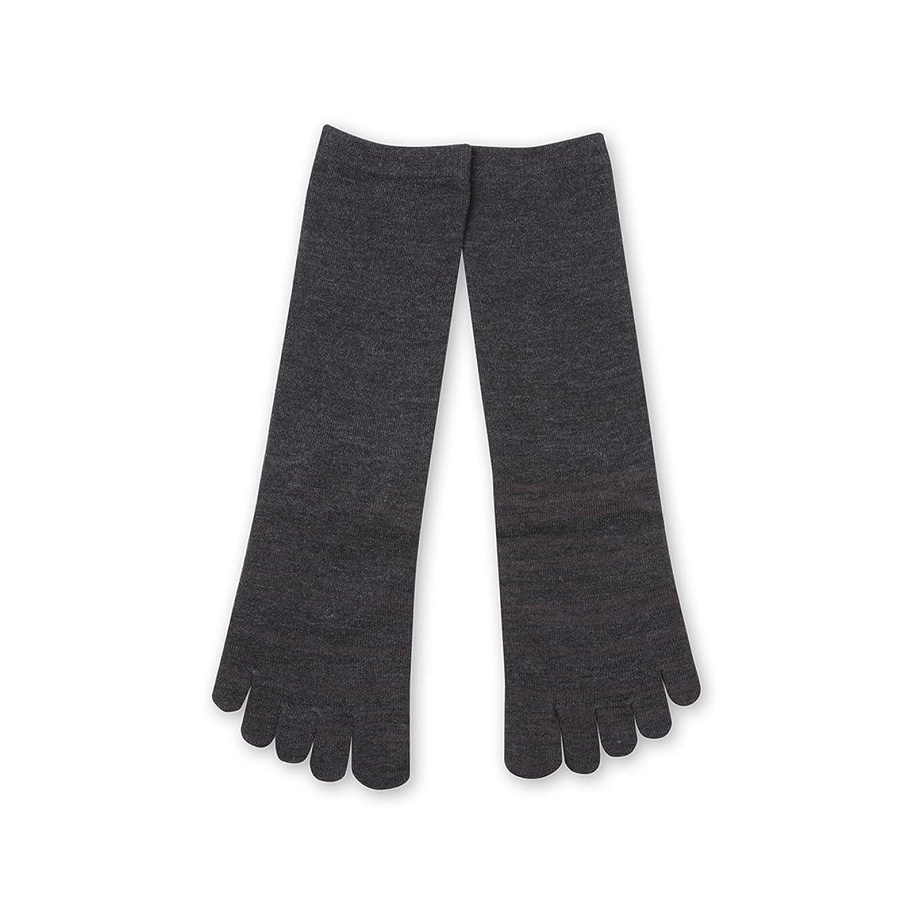 注釈拮抗八百屋Deol(デオル) 5本指 ソックス 女性用 靴下 23~25cm グレー