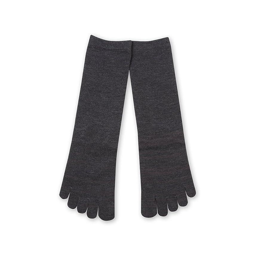 グリット法廷対抗Deol(デオル) 5本指 ソックス 女性用 靴下 23~25cm グレー