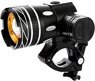 Greneric - Luz LED recargable por USB, 2400 lúmenes, IPX6, impermeable, fácil de instalar, 2000 mA para bicicletas de mont...