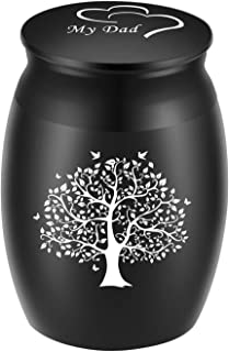 BGAFLOVE Tree Life Small Keepsake Cremation Urn for Human Ashes,Mini Metal Sharing Personal Funeral Urn for Pet or Human A...
