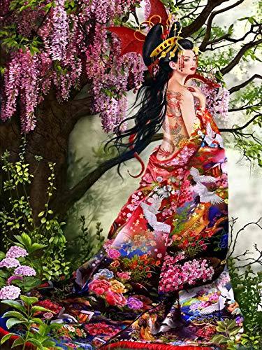 zhanglinzi 1000 Piezas de Rompecabezas, Rompecabezas de geishas japonesas, Juegos Casuales de Interior Chi (75 * 50 cm) adecuados para la decoración de Regalos