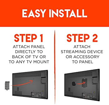 Universal Streaming Device Mount Holds Media Devices Up to 3lbs Securely Behind Flat Screen TVs - Compatible with App...