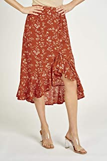Valleygirl Asymmetrical Ruffle Skirt (325156)