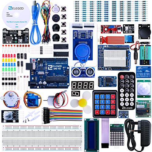 ELEGOO UNO R3 Project The Most Complete Ultimate Starter Kit Compatible with Arduino IDE w/TUTORIAL,...