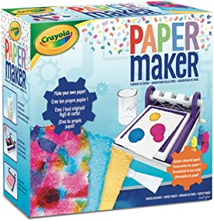 CRAYOLA 74-7407 Paper Maker Kit, DIY Art and Craft, Create Your Own Custom Art Materials, Tie Die, Coloured Paper, Great f...