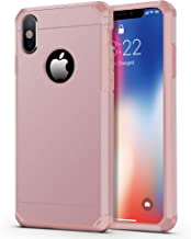 iPhone X Case/iPhone Xs Case, ImpactStrong Heavy Duty Dual Layer Protection Cover Heavy Duty Case for iPhone X/Xs 5.8 inch (2018) - Rose Gold