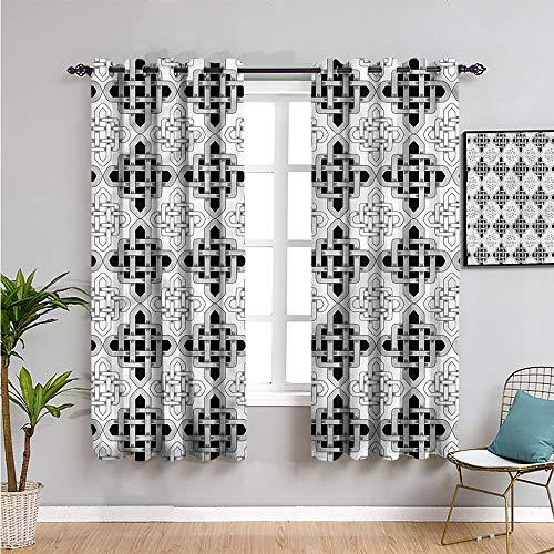 Pcglvie Celta paneles de cortina, Cortinas de 183 cm de longitud escandinava celta cortina interior de 72 x 72 pulgadas