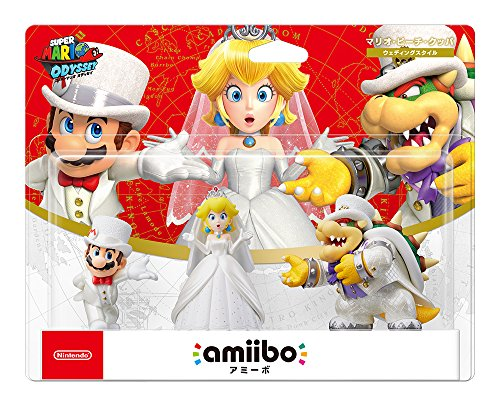 Amiibo Triple Wedding Set (Mario/Peach/Koopa, ver. Japan Import, Super Mario Series) [video game]