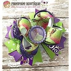 Rapunzel bow Disney Princess Bow Princess Bow Tangled Bow headband Chunky glitter bow holiday bow stocking stuffer Birthday Bow Rapunzel