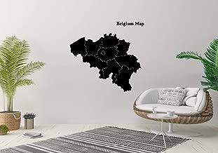Wall Sticker Belgium Map Outline Country Travel World Vinyl Mural Decal Art Decor EH3183