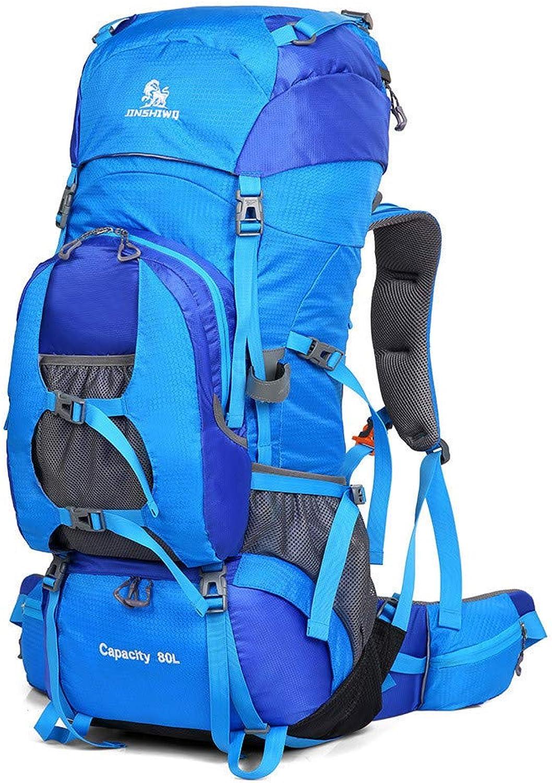 Camping Zelte Outdoor Bergsteigen Tasche Mnner und Frauen groe Kapazitt Rucksack zu Fu auf 80 l wasserdichte Outdoor-Paket zu reisen für Mnner Frauen, Arbeit ( Farbe   Blau )