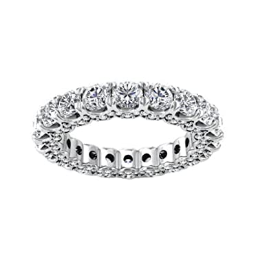 Madina Jewelry 4.18 ct Ladies Round Cut Diamond Eternity Wedding Band (Color G Clarity SI-1) in Platinum