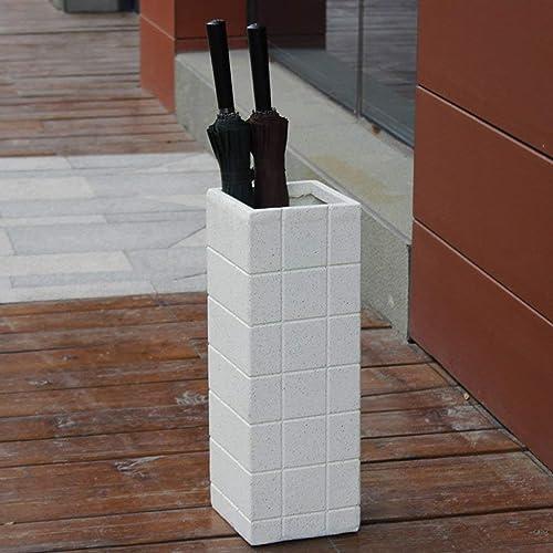 S-J Mode Créatif Parapluie Stand Magnesite Boue Imitation Céramique Ménage Parapluie Seau Simple Bureau Parapluie de Stockage Parapluie Barrel Parapluie Stand, Blanc, a