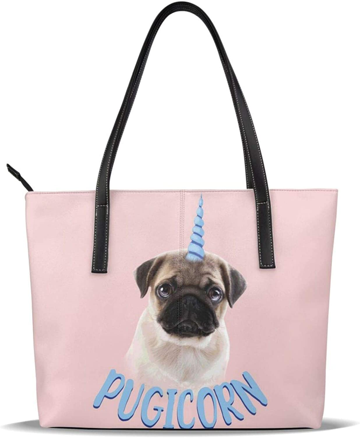 Pink Unicorn Pug Trust Funny Cute Leather Printed Pattern Large discharge sale Dogicorn Pu