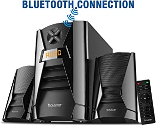 Boytone BT-222, Wireless Bluetooth 2.1 Multimedia 40 watts, Powerful Bass System with FM Radio, Remote Control, Aux Port, USB, SD Slot, for Phones, Tablets, Music and Home Theater Movies